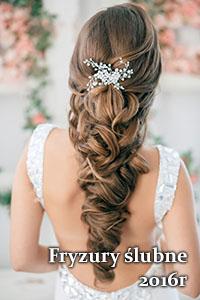 fryzury ślubne 2016