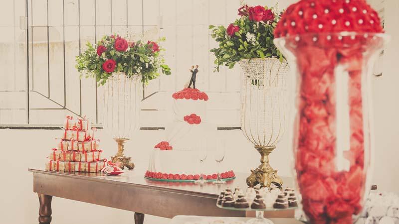 Słodki stolik weselny